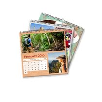 3 x 21cm x 21cm Personalised Calendar incl Delivery