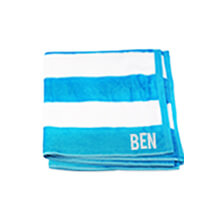 Light Blue Beach Towel 75x150cm incl Delivery