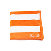 Orange Beach Towel 75x150cm incl Delivery