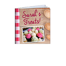 20 Page Hardcover 20cm x 20cm Recipe Book incl Delivery