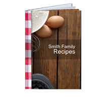 40 Page Hardcover A4 Portrait Recipe Book incl Delivery