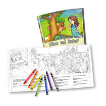 20cm x 20cm Softcover Personalised Story Book with Softcover Colouring Book